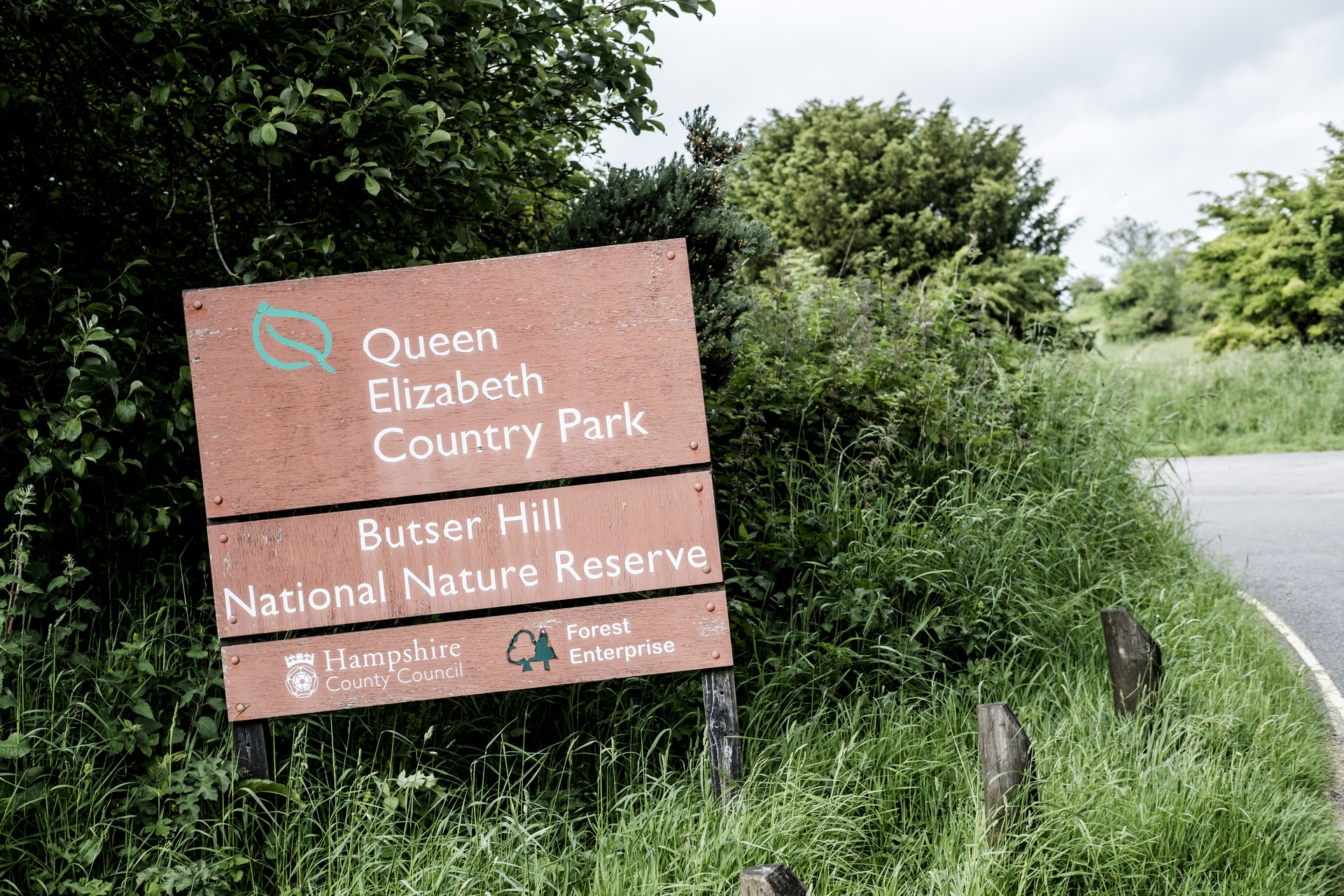 Queen Elizabeth Country Park Sign